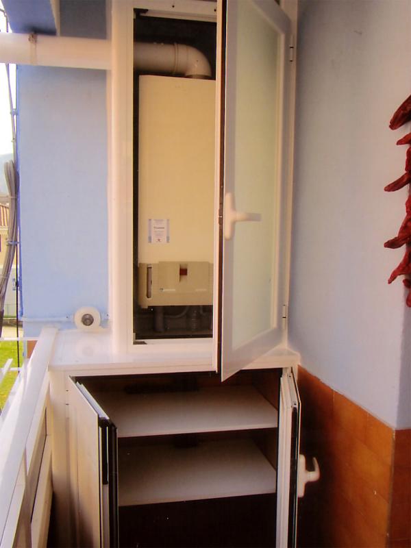 Armario para caldera exterior free com armario calentador casa y jardn armario calentador with - Armario para caldera exterior ...