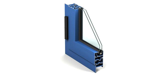 Seccion de ventana de aluminio.